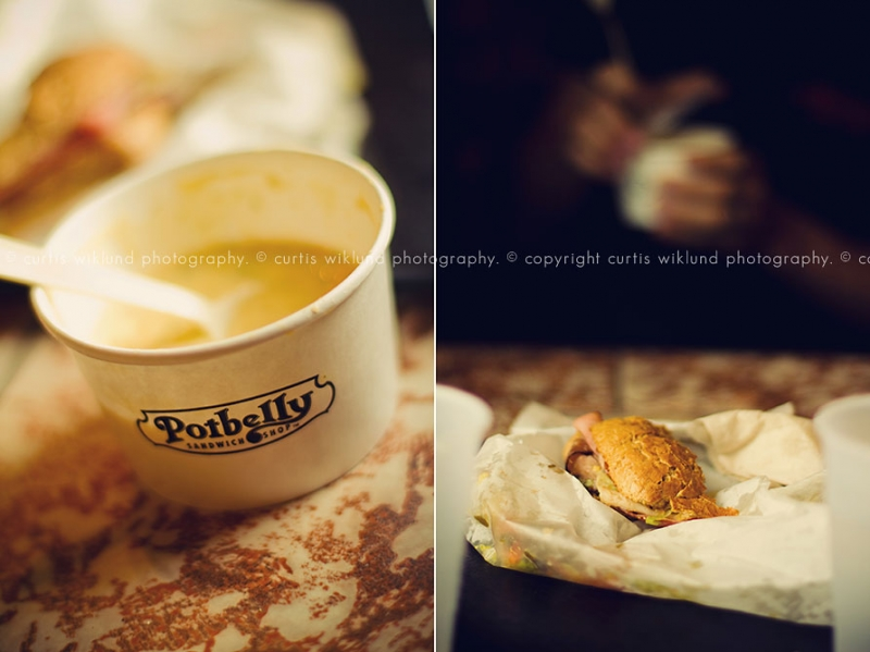 Potbelly soup and sandwhich
