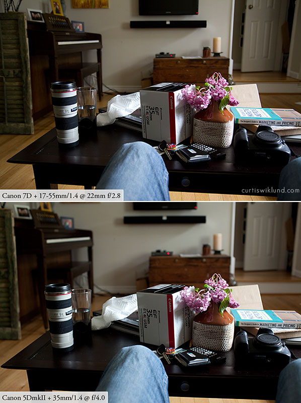 achieve the 5d full frame look with a crop sensor 7d