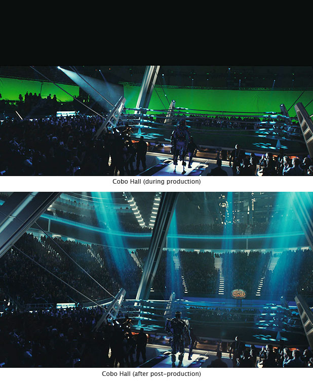 Cobo Hall during Real Steel production