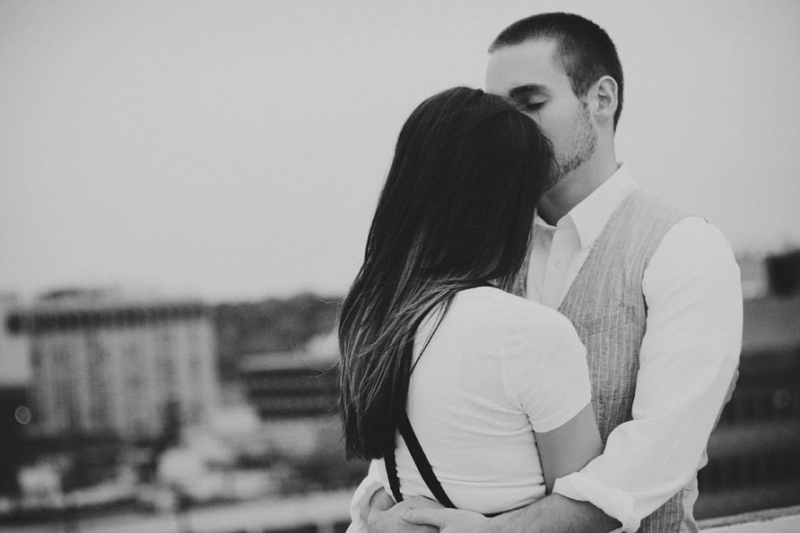 Detroit Black and White Engagement Pictures