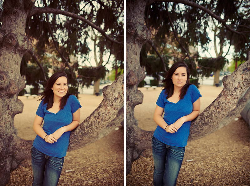 Outdoor Girl Senior Picture Pose Ideas