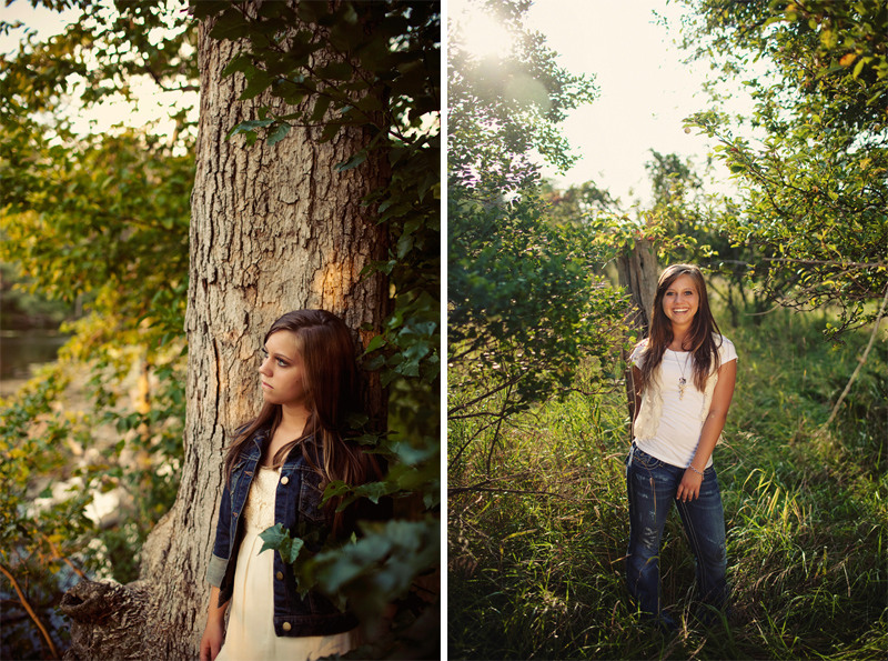 Nature Senior Picture Pose Ideas for Girls in Mi