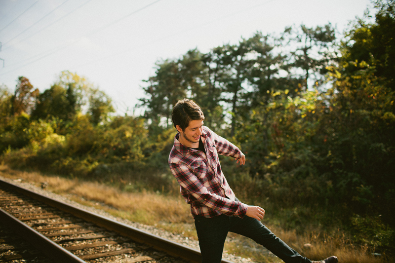 Railroad Senior Guy Photo Shoot in Michigan