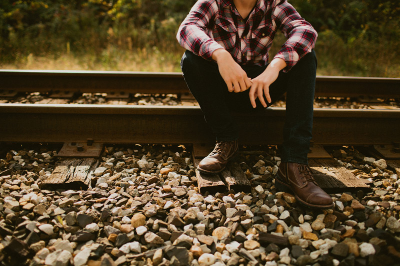 Railroad Senior Photo Shoot in Birmingham, Michigan