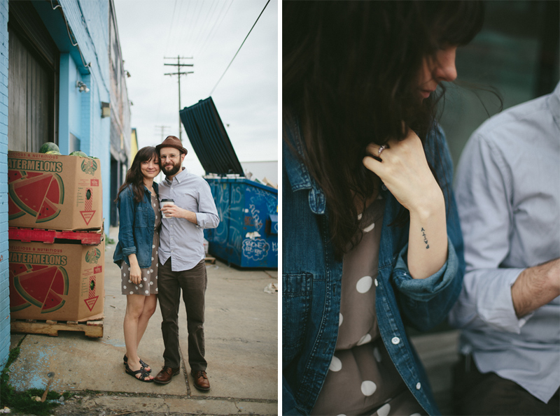 Urban Photoshoot of Couple in Detroit, MI